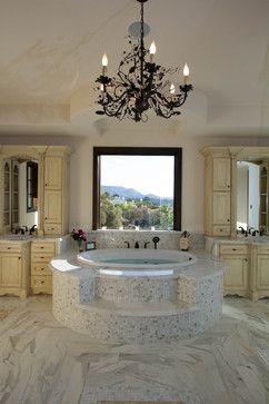 Calabasas Tuscan Villa - traditional - bathroom - los angeles - Kasis Construction Inc., Windsor Windows and Doors.