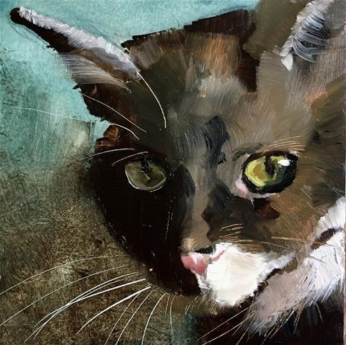 """Daily Paintworks - """"Yellow eyes"""" - Original Fine Art for Sale - © Philine van der Vegte"""