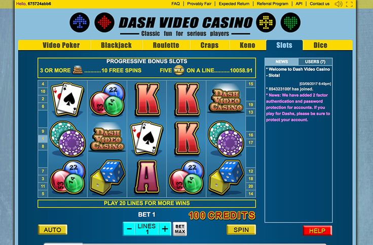 """""""Due to popular demand from the Dash community, and due to network congestion with Bitcoin, we have now launched DashVideoCasino.com It works exactly like the original Bitcoin site you all know and love, but everything is denominated in Dash. We even have a great affiliate program where you can earn up to 25% of the house edge on every player you refer.  Please provide feedback."""""""