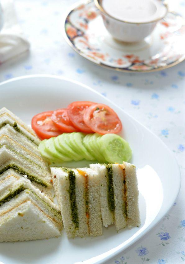easy vegetarian tea sandwich