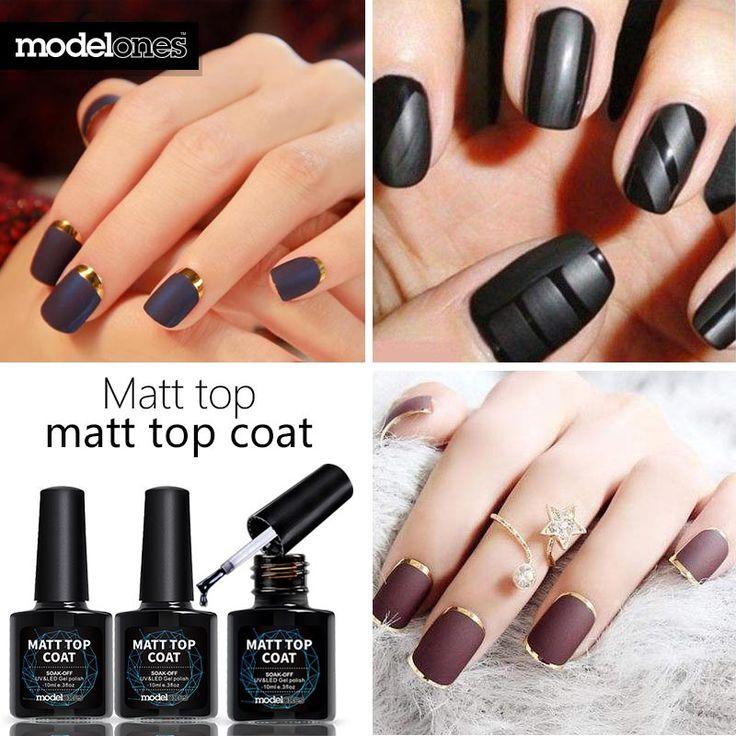 Modelones 1pcs Matt Matte Top Coat 2016 New Intense Seal Protect DIY Nail Top Coat Salon For UV LED Lamp Soak-off Gel Polish