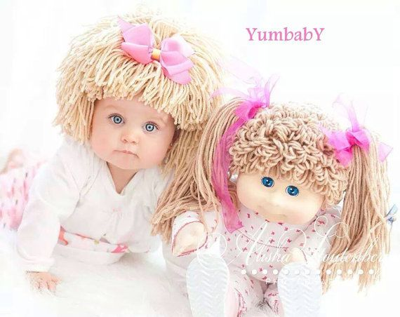 Cabbage Patch Hat Beanie Wig Baby costume costumes for by YumbabY