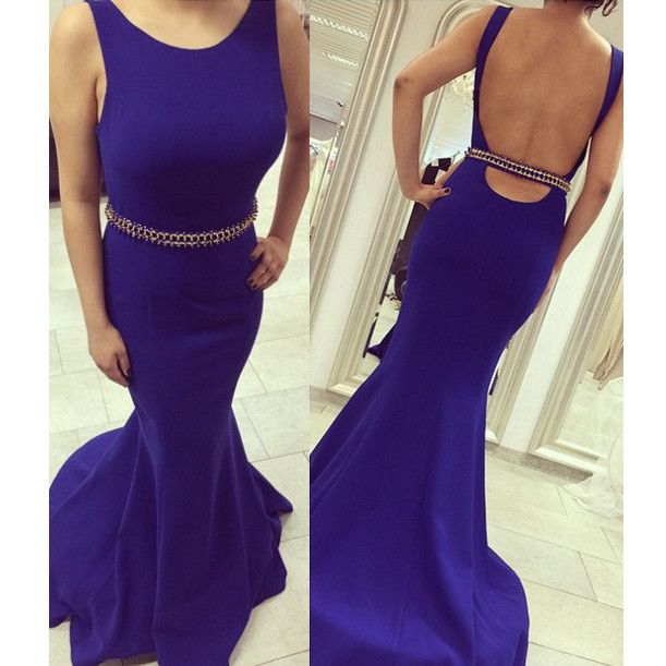 Open Back Cocktail Dress Prom Gown