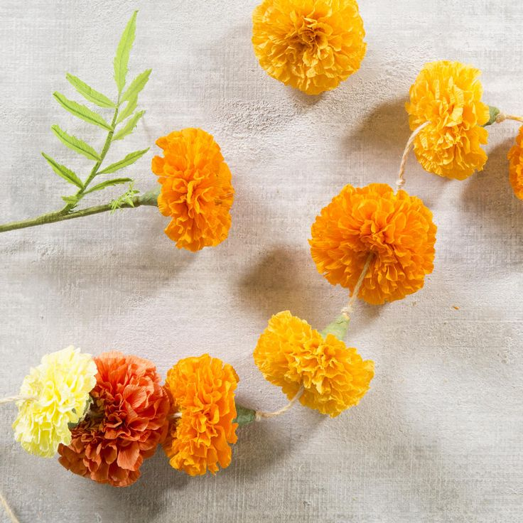 How to Make Marigold Paper Flowers | These stunning paper marigolds will brighten up your home in fall or any time of year, no watering required