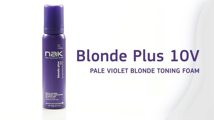 Blonde Plus 10V Toning Foam #blonde #tone #foam #condition #shine #hair #hairstyles #hairtrends #nakhair