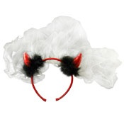 Bachelorette Party - Veil With Red Horns