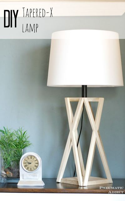 How to build trestle x table lamp