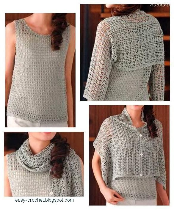 Crochet Shrug - free pattern! I love this versatile concept!