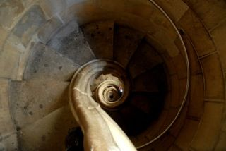 Sagrada Famillia. Staircase in Bell tower. Barcelona. Antoni Gaudi.