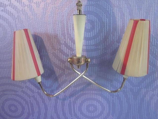 50er Hängelampe Lampe Deckenlampe  era Stilnovo Nierentisch mid-century design
