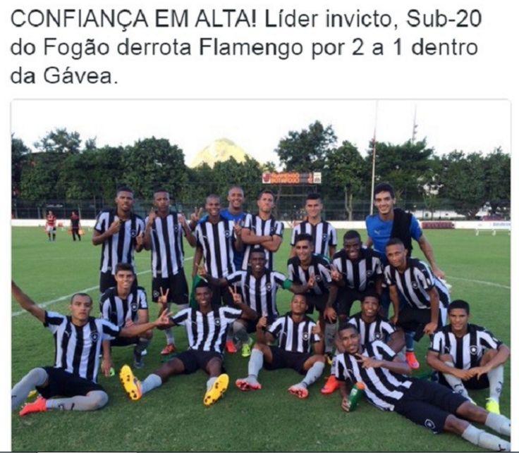 Líder invicto, Sub-20 do Fogão derrota Fla por 2 a 1 dentro da Gávea