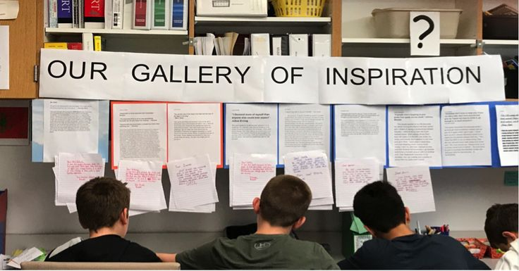 "This teacher's quote-reflection writing activity helped her students inspire each other and learn important advocacy and empathy lessons.  Here's how you can bring the ""Gallery of Inspiration"" activity to your own classroom. 