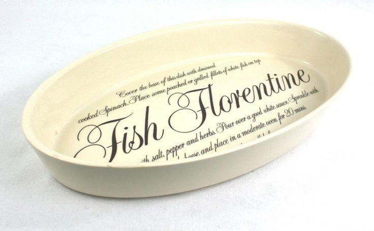 Vintage  T.G Green Gish Florentine Recipe Dish