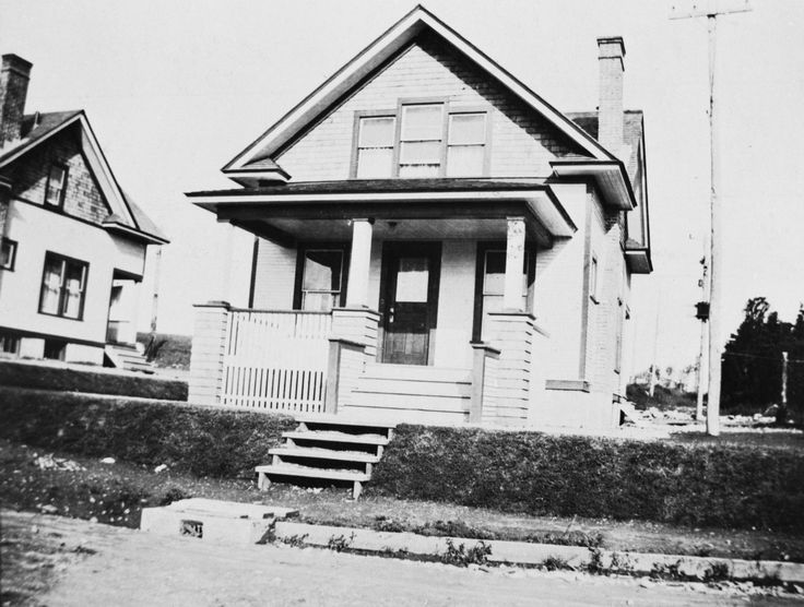 One of the original homes, in Imperoyal Village Avenue B, for supervisors 1919
