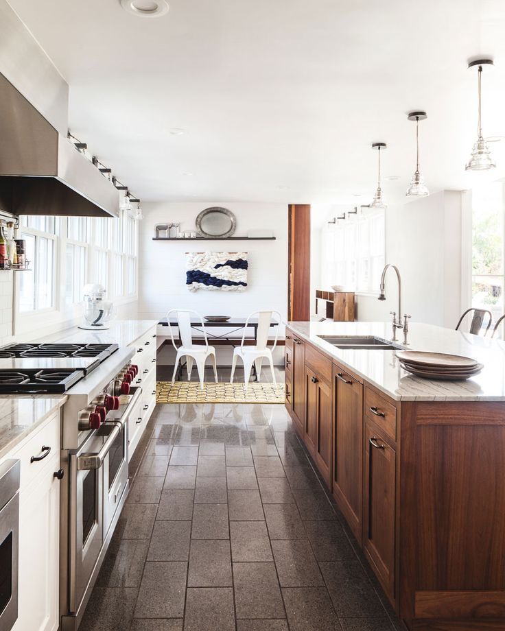 (More than a) Simple Country House with Big Windows | Rue. // DREAM KITCHEN! so beautiful!