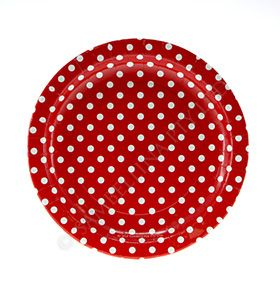 Polkadot Red Party Plates