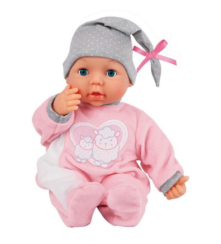 Bayer Design Babypuppe, »My Piccolina Interactive« für 44,99€. Funktionspuppe, Ab 18 Monaten, Macht echte Babygeräusche, Größe ca. 38 cm bei OTTO