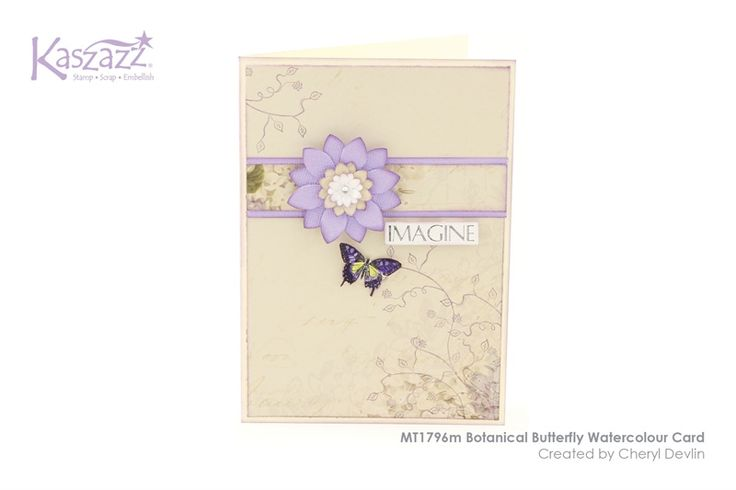 MT1796m Botanical Butterfly Watercolour Card