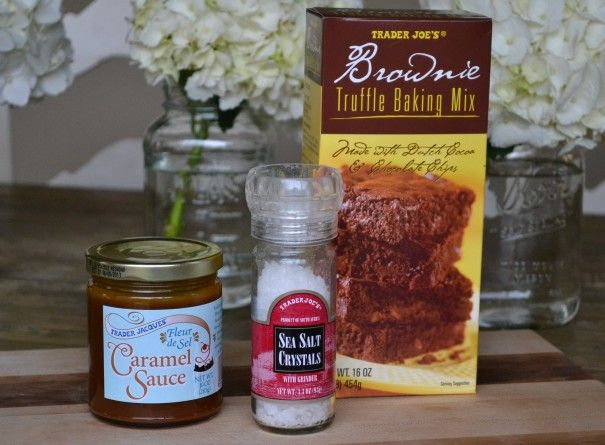 Super easy, yummy Salted Carmel Brownies | Little Miss Momma