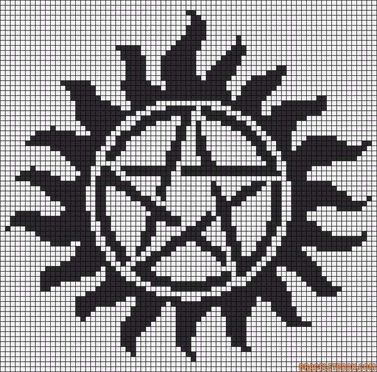 Supernatural - Anti-Possession cross stitch