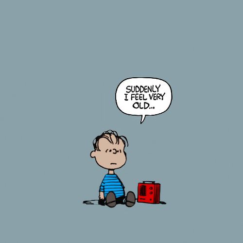 "He IS old! Linus first appeared in Charles Schultz' comic ""Peanuts"" September 19, 1952."