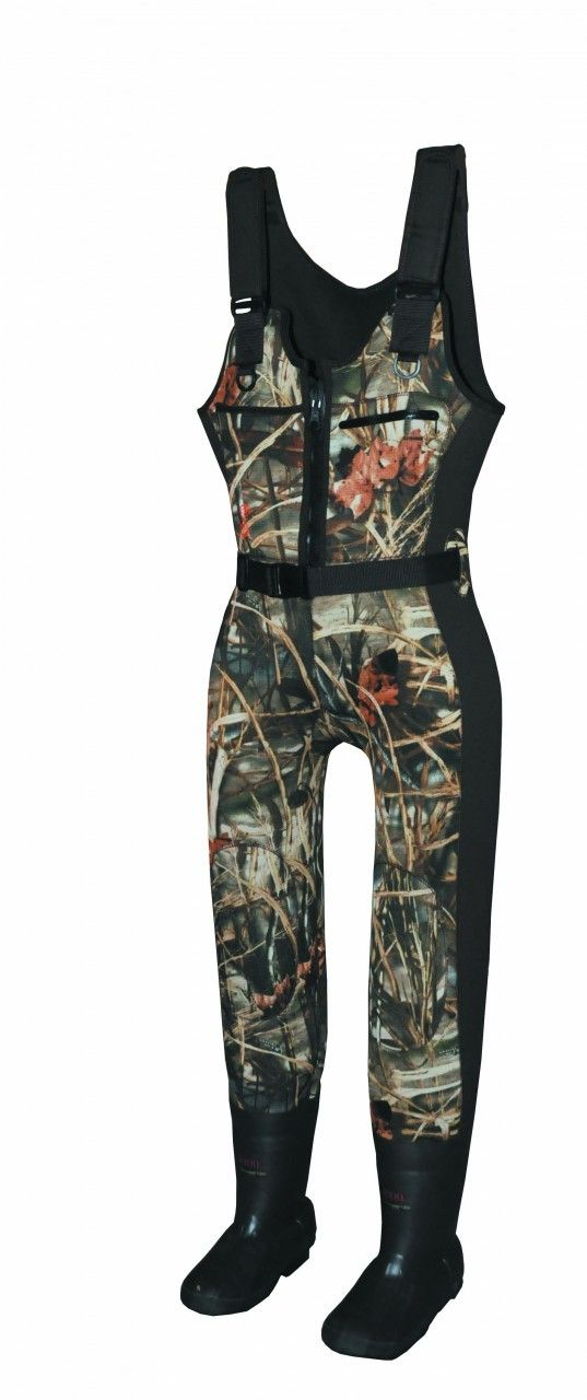 Finally...waders for women. Proline has joined forces with SHE Apparel to provide women waterfowlers with waders that fit! The SHE Waterfowl wader is unique because of the sizing options. Order by boot size (6-10) and wader size (S-XL). Obviously waterproof, these waders have adjustable shoulder straps, dual chest pockets, accessory belt and reinforced knees. Abrasion-resistant neoprene color blocking for a feminine look and insulated with 1000 grams of Thinsulate. $239.99