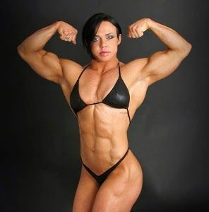 Female body builder video clip