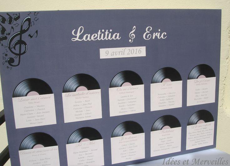 plan de table mariage Musique theme chansons - Idées et merveilles (2)