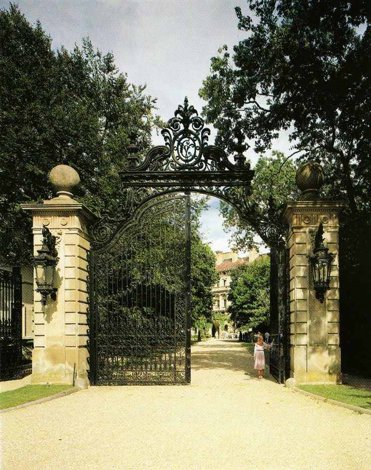 The Breakers wrought iron front gates