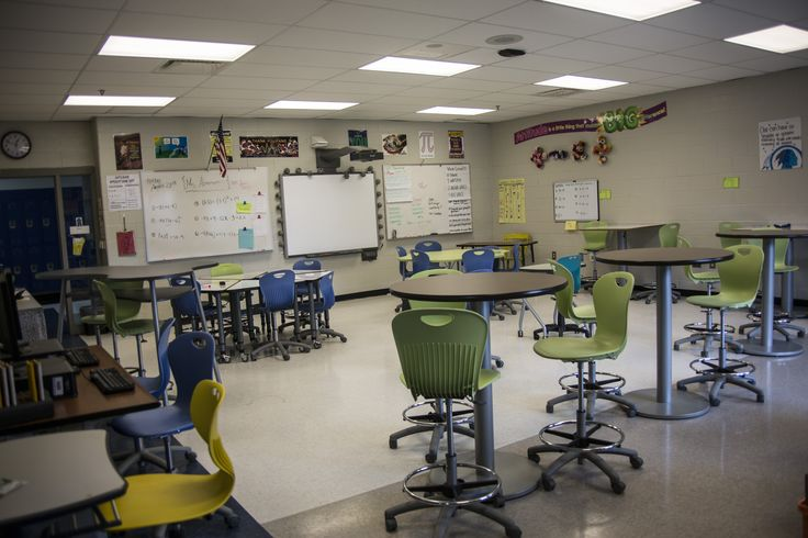 Stall High School, CCSD - Flexible Learning Environment - Students love the cafe height seating