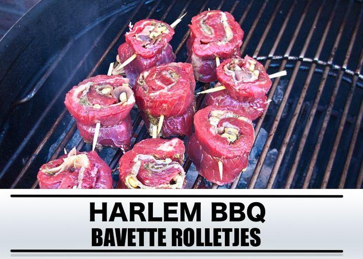 Recept Bavette rolletjes van de barbecue
