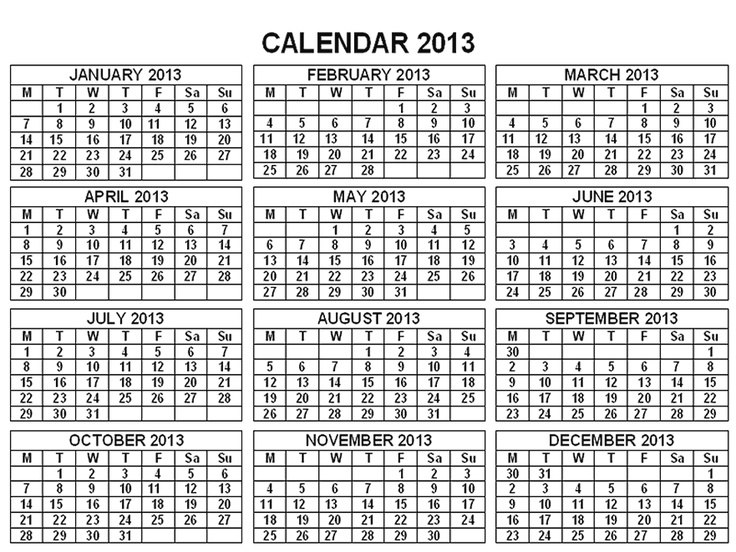 Calendar April 2013 : Best images about calendars on pinterest