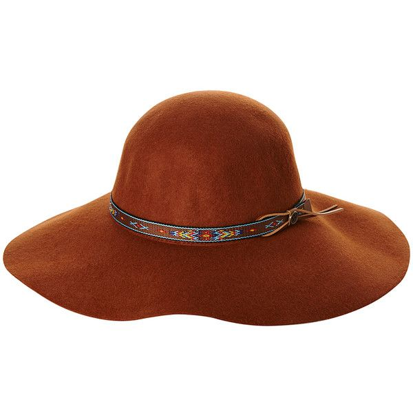 Womens Fallenbrokenstreet The New Little Hippie Hat Brown Wool ($69) ❤ liked on Polyvore featuring accessories, hats, brown, womens accessories, woolen hat, hippie hats, floppy brim hat, brown hat and wool hat