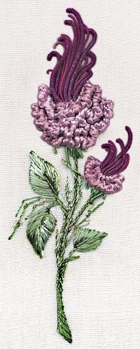I ❤ ribbon embroidery . . . California Rosebud @Af 13/1/13