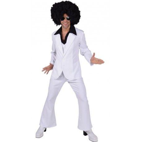 Déguisement disco blanc homme luxe