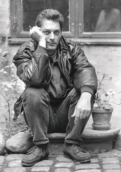 """""""And that's why books are never going to die. It's impossible. It's the only time we really go into the mind of a stranger, and we find our common humanity doing this. So the book doesn't only belong to the writer, it belongs to the reader as well, and then together you make it what it is.""""   ― Paul Auster, photo uncredited"""