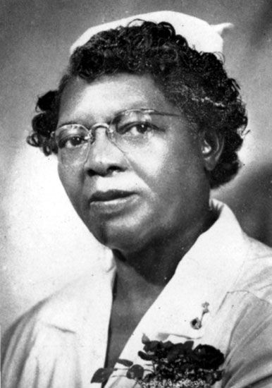 Lena Lowe Jordan, a Little Rock (Pulaski County) nurse and hospital administrator who began a training program for certification of black women as practical nurses; circa 1940.