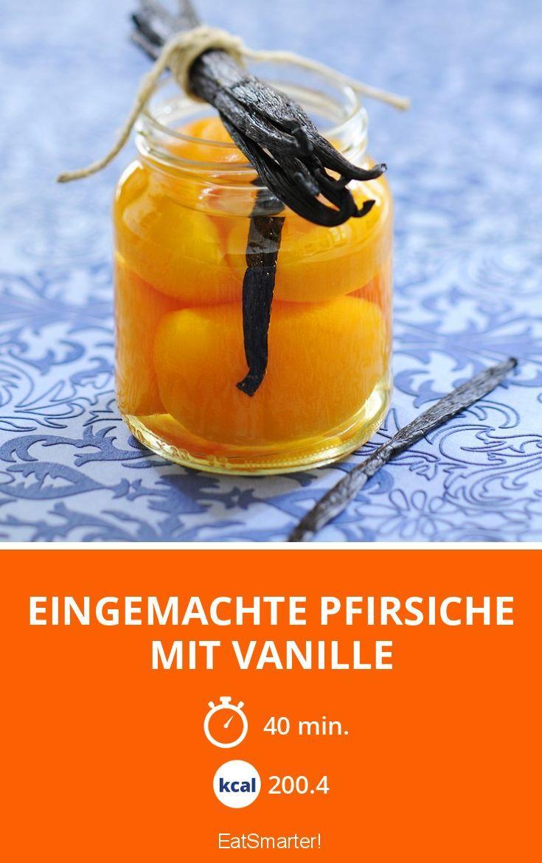 Eingemachte Pfirsiche mit Vanille