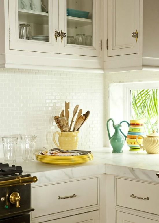 Sophisticated Sunset Key Florida Home Filled With Sunny Yellow Lime Green Aqua Blue Yellow Kitchen Accessorieskey