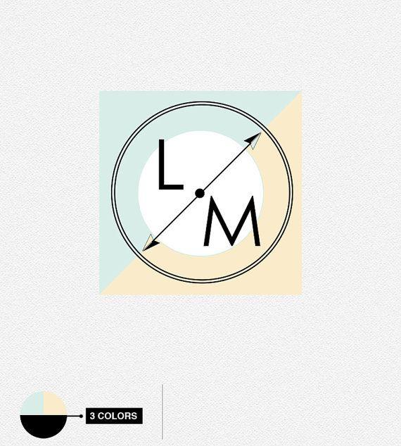 Monogram Compass Logo