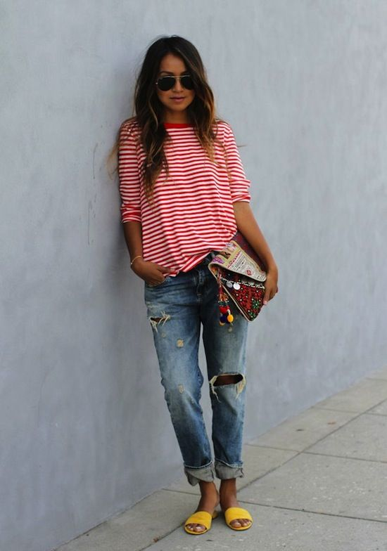 Stripes, denim and brights!