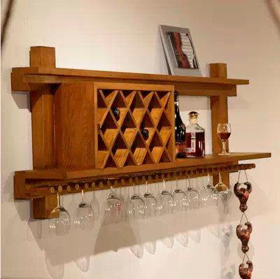 """Bar Casa, vinho rack, móveis de madeira, mini bar de vinhos, madeira shell vinho, móveis de madeira recuperada """"Aragão"""""""
