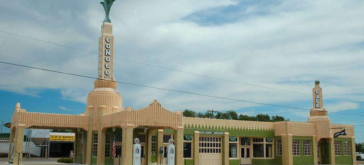 Tower Station and U-Drop Inn Café, Shamrock, TX