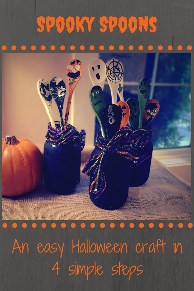 This Spooky Spoon craft is an easy and fun Halloween craft to do with kids. At under $5/person it's also budget friendly! Let your imagination guide you! #Halloween #DIY #pumpkin #budgetfriendly