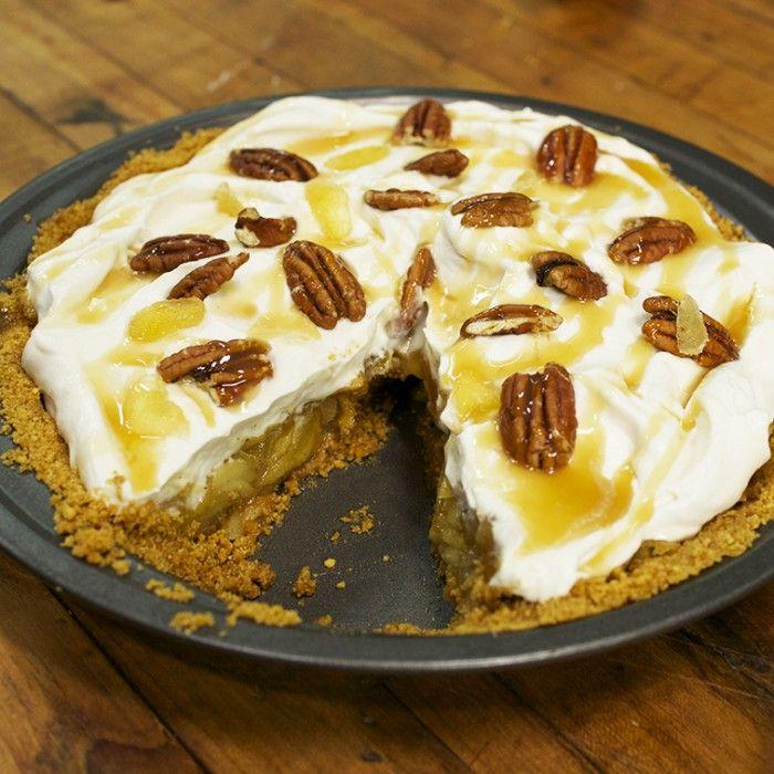 tarte sans cuisson aux pommes poires et caramel food