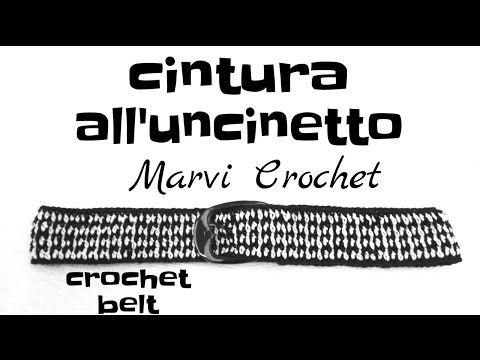 Tutorial cintura all'uncinetto, crochet belt - YouTube