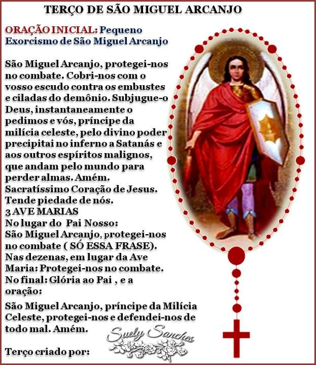 ww.reza dos mal maus.com | TERÇO DE SÃO MIGUEL ARCANJO