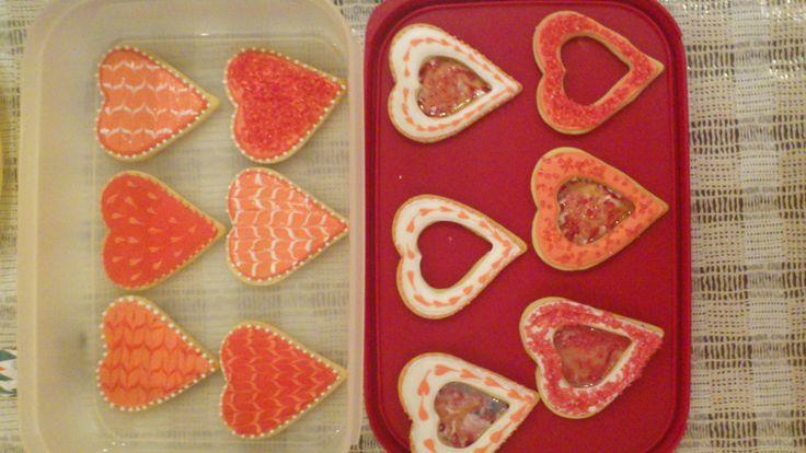 μπισκότα Αγιου Βαλεντίνου με αυγόγλασο valentine's cookies