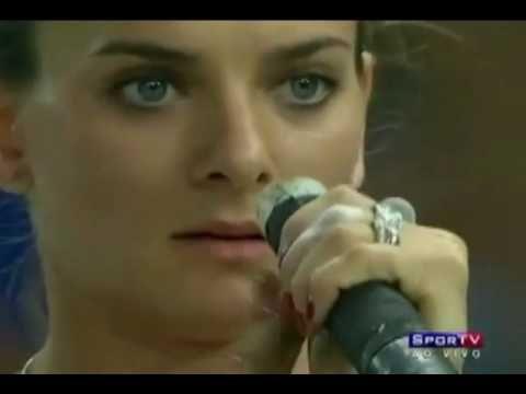 Isinbaeva rocks the Russia National Anthem