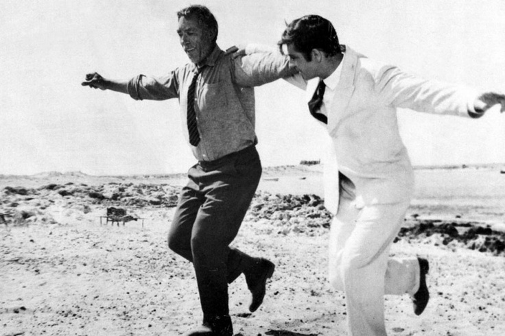 Anthony Quinn and Alan Bates in
